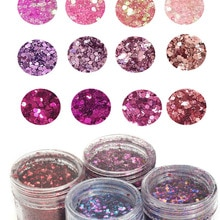 4 Boxes 10ml  Chunky Glitter Mix, CUSTOM GLITTER MIX Custom Glitter Sequin 0.2-2mm Glitter Nail Art