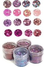 4 kutu/Set tıknaz Glitter 10ml Glitter pul yüz göz vücut parlak sim pullu 0.2-2mm Glitter nail Art İpucu dekor tırnak sanat için