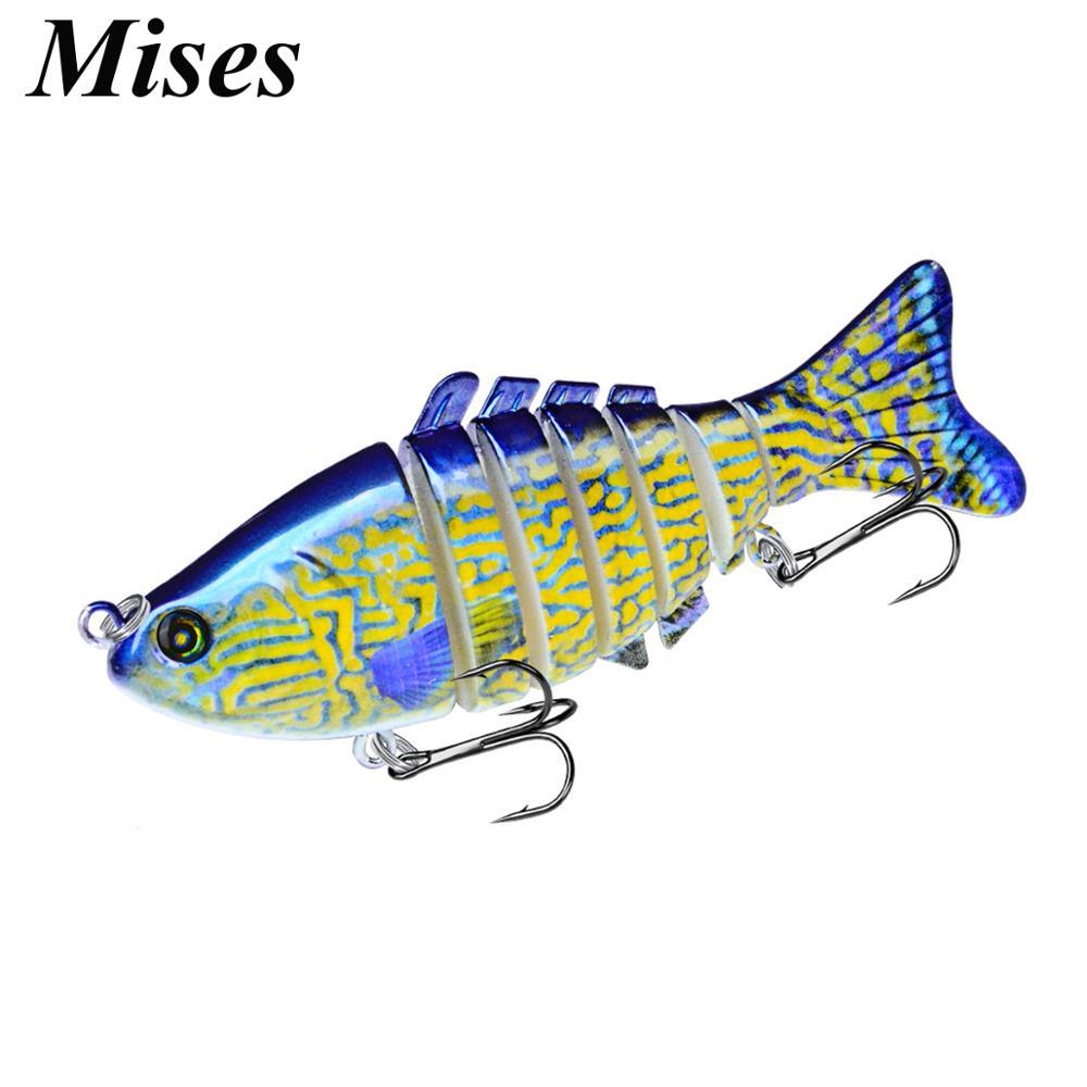 Mises 10cm 15.6g 8-Colors Bionic Swim Bait Lure 6# Hooks Sounding Multi-section Artificial Bait Abs Hard Bait Fishing Lure