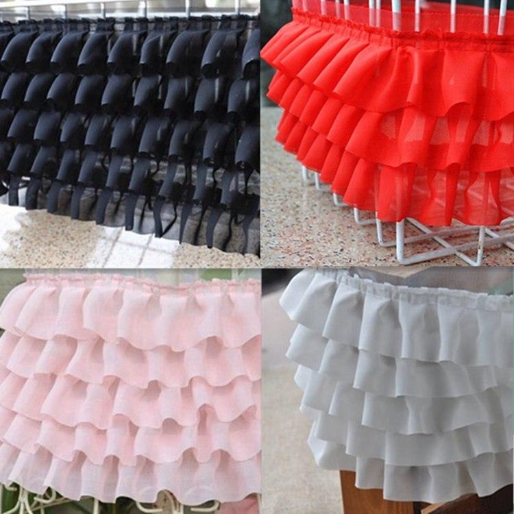 2 yards/lot Multicolor Blase Rock Material Gefaltete Chiffon-Kleid Spitzenbesatz 3D Rüschen Spitze Gefaltete spitze Stoff Für kleidung