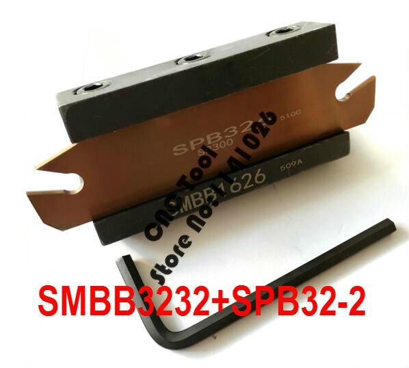 Entrega gratuita de SPB32-2 NC conjunto barra de corte e SMBB3232 CNC turret Máquina de Torno Ferramenta de corte Titular Estande Para SP200