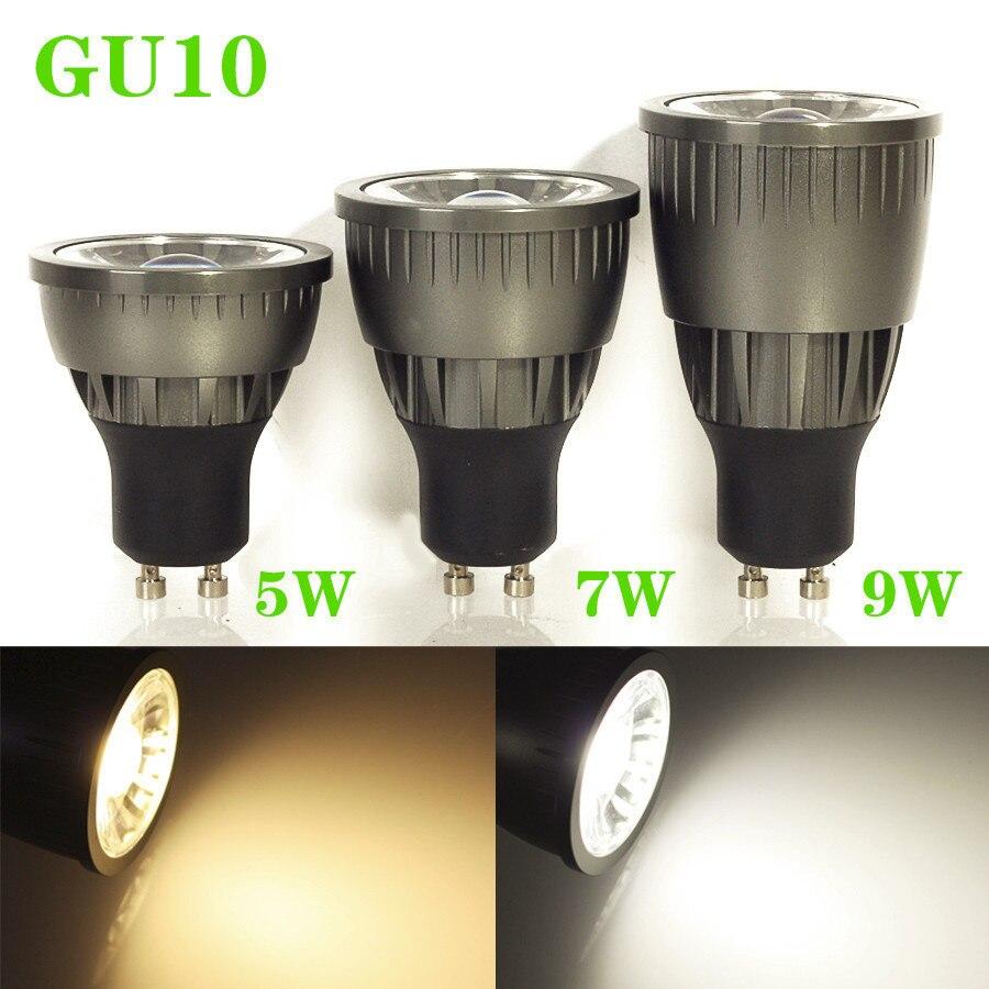 50pcs/lot  2015 led spot light bulb Lamps GU10 5W 7W 9W Dimmable led COB Spotlight Bulbs LED Ceiling light/down light Cool White