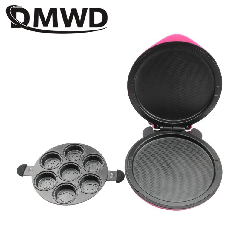 DMWD электрическая блинная вафельница, мини-выпечка, пицца, кексы, плита, завтрак, торт, машина для выпечки, сковорода, барбекю, гриль