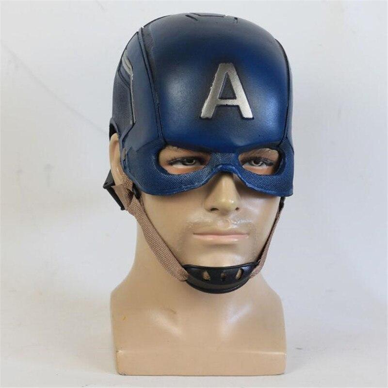 Caliente superhéroe película de los Vengadores máscara del Capitán América accesorios Cosplay casco PU fiesta fanáticos del Halloween regalo