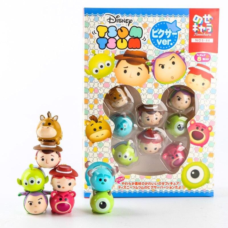 8 unids/lote Mini Sully Mike Juguetes de Navidad de Qversion del baño de juguete Juguetes para niños regalo Brinquedos