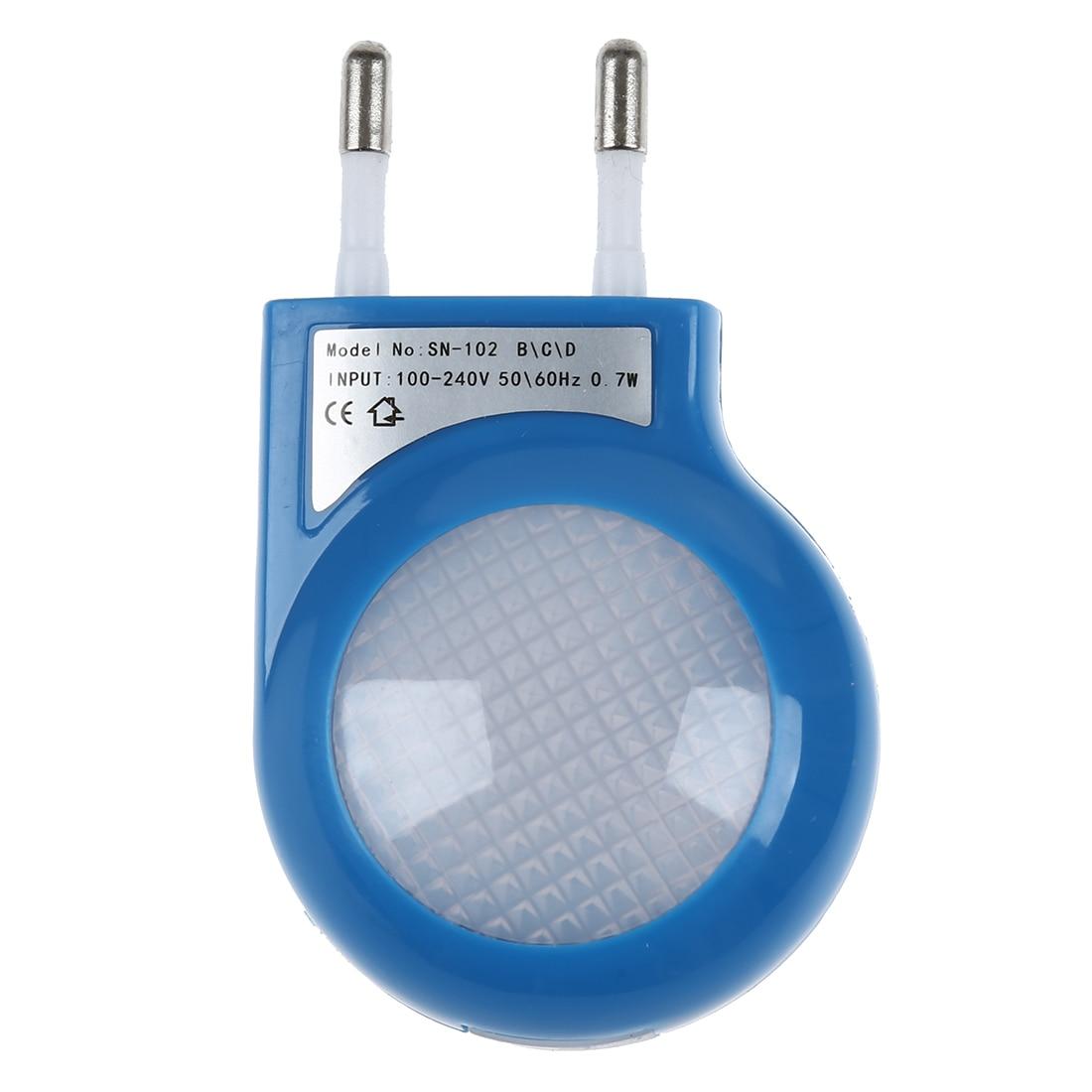 Drop shipping Blue LED Sensor Night Lamp with 0.7W Low Power Plug