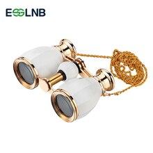 Nouveau Style 4X30 télescope binoculaire opéra lunettes enduit théâtre verre rétro jumelles avec chaîne télescopique dame cadeaux 5 couleurs