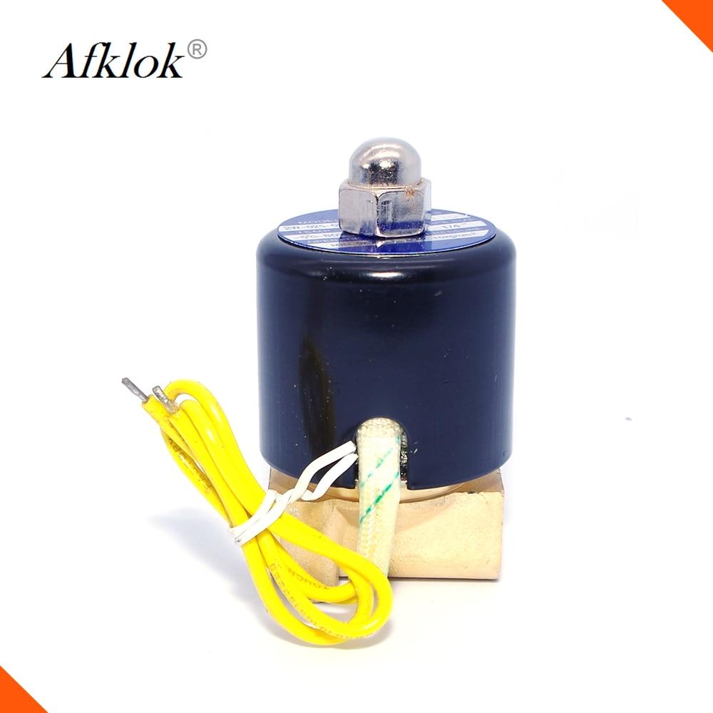 Brass small size 1/8 inch 24v solenoid valve