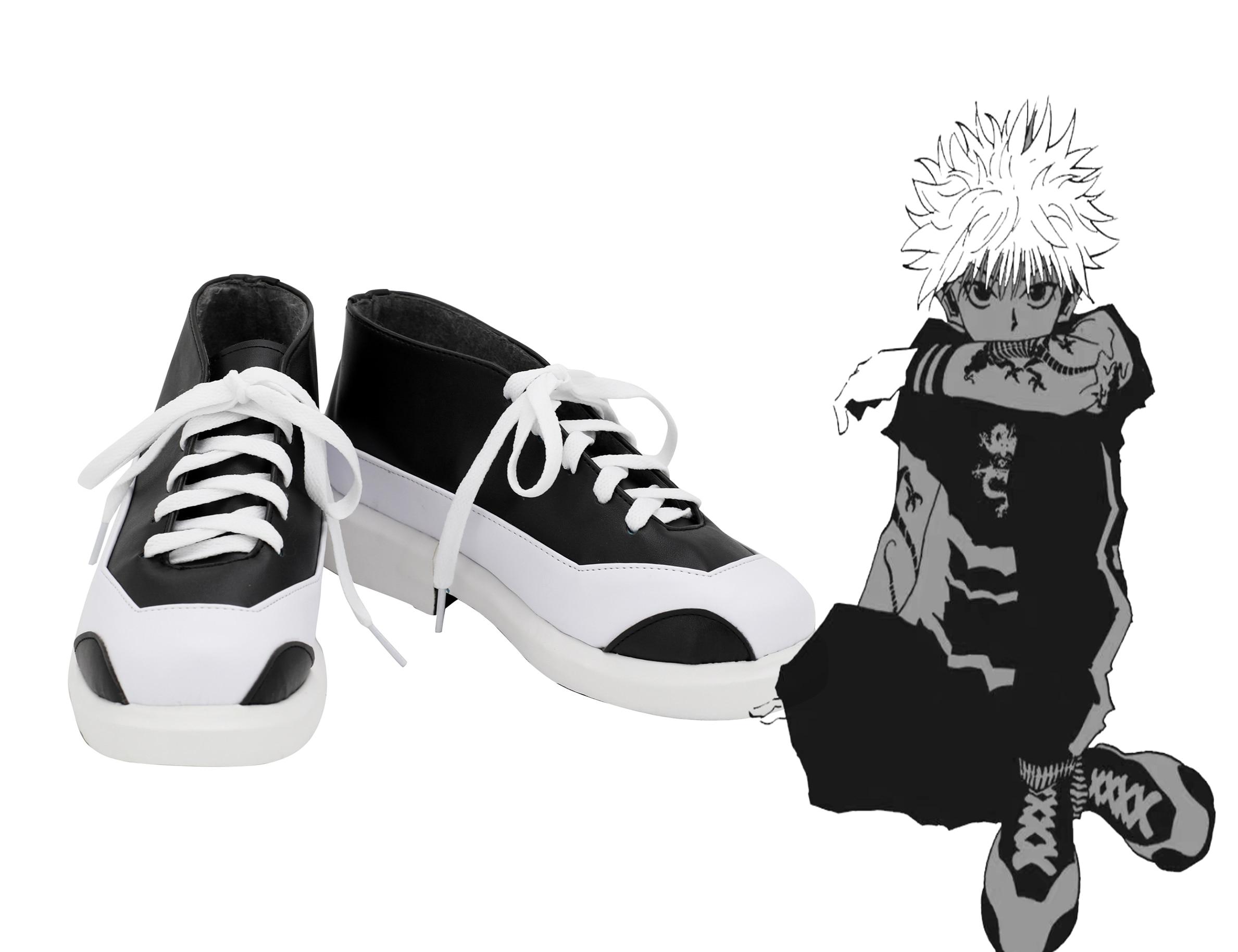 Hunter x hunter killua zoldyck botas Anime Cosplay zapatos