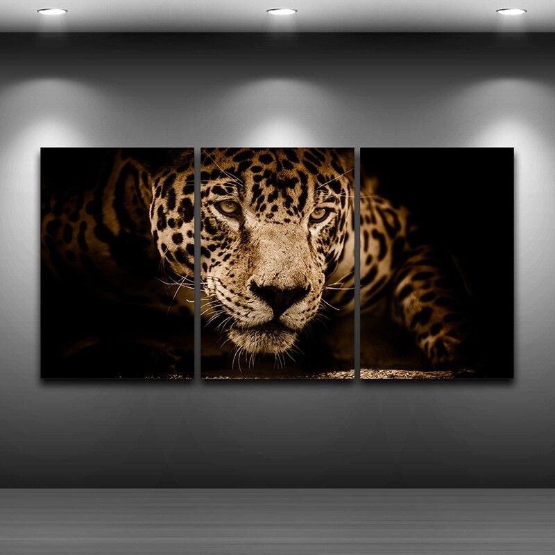 Jaguar художественный печатный рисунок на холсте, спрей, картина маслом, украшение для дома, настенная художественная картина, печатная рамка, ...