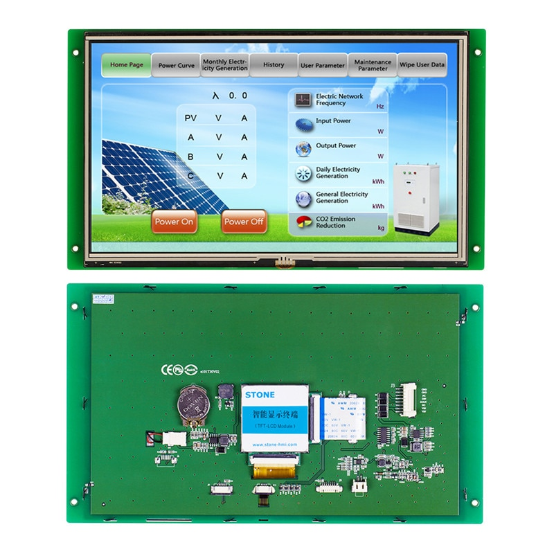 ЖК-модуль TFT 10,1 дюйма с платой управления + ЦП + последовательный интерфейс для использования в торговых автоматах