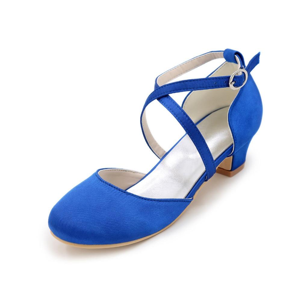 Tira cruzada Dorsay meninas cetim flor menina vestido de casamento sapatos de salto quadrado dedo do pé arredondado prom quinceanera cores saltos