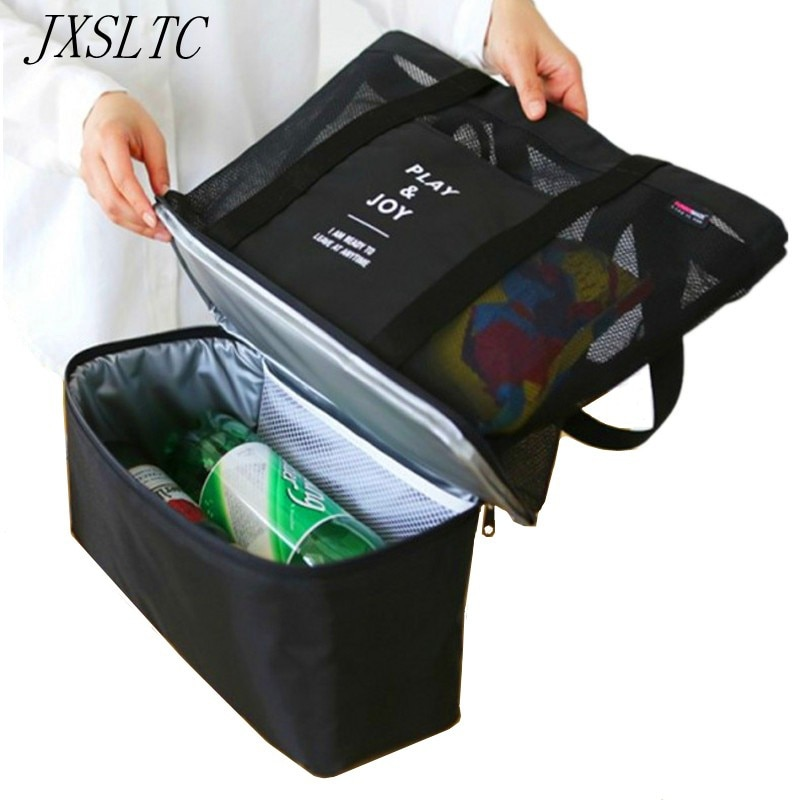 JXSLTC, bolsa organizadora de viaje aislada para alimentos y bebidas, bolsa de Picnic separada para Almuerzo Bento caja, bolsa de hombro deportiva, bolsa de almacenamiento de rejilla