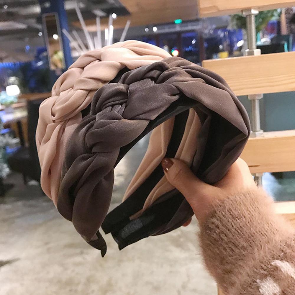 Корейская повязка для волос женская хлопковая ткань завязанная повязка на голову винтажные твист аксессуары для волос в виде тюрбана широкая лента для волос ручной работы аксессуар для волос в стиле бохо Чалма