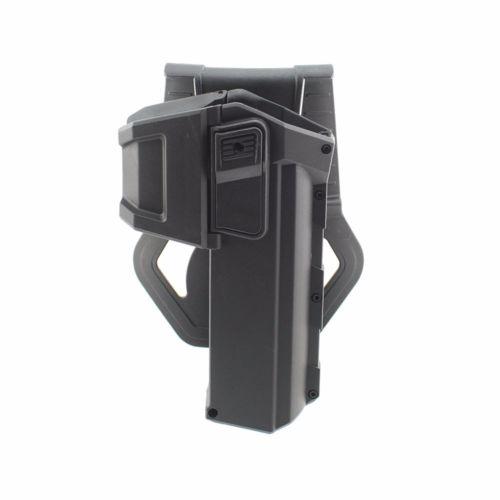 Carrinhos de pistola móvel para g17 g18 com lanterna ou laser montado glock série mão direita cintura arma coldre montagem
