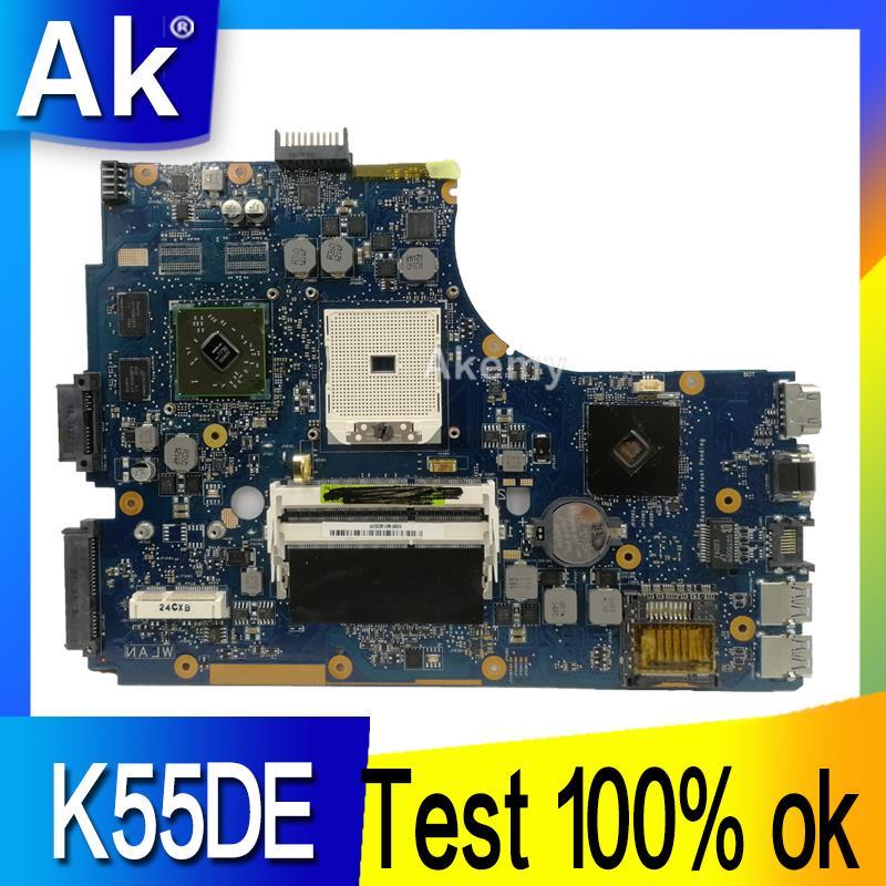 AK K55DE материнская плата для ноутбука ASUS K55DE A55DR K55DR K55D K55N K55 тест оригинальная материнская плата