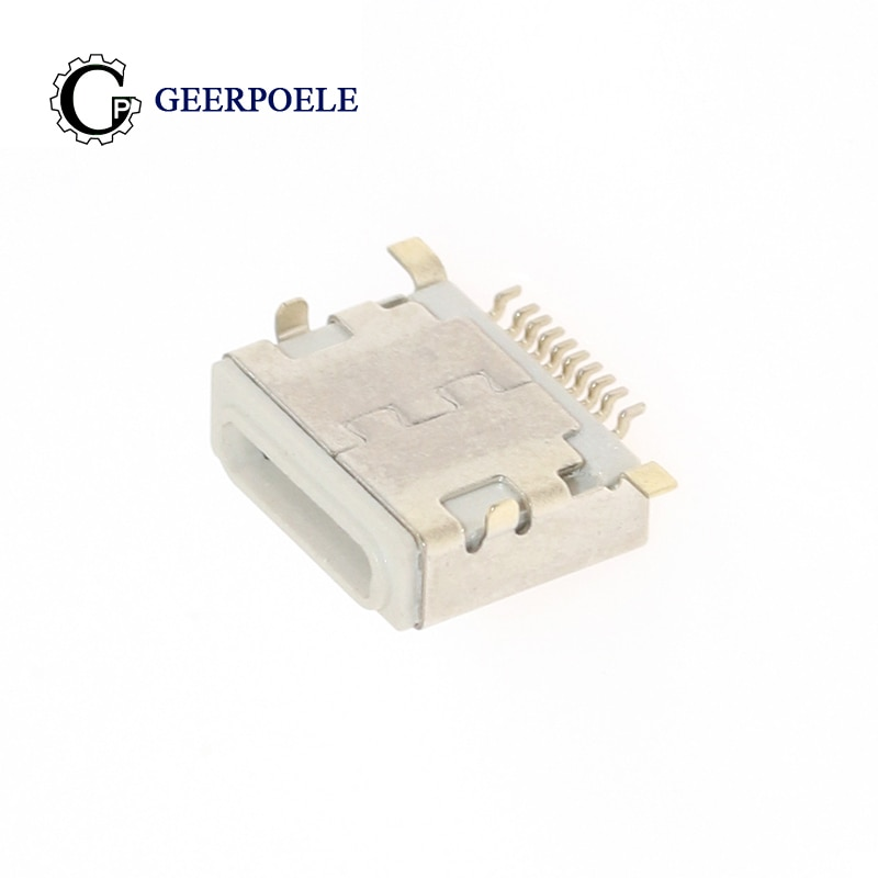 10 pcs/lot Lightning Socket Iphone 10P 30V 2A Micro USB Connectors Female Tail Plug Port Jack Socket Electric Terminals