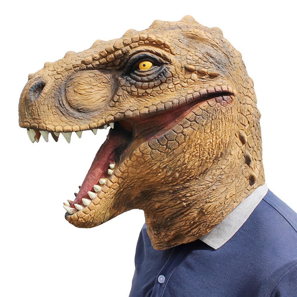 Máscara de dinosaurio de Halloween, máscaras de Jurásico World, máscara de Cosplay para adultos, máscara para fiesta de disfraces, suministros L711