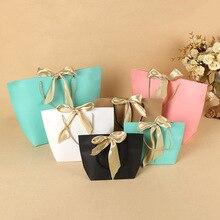 Boîte-cadeau pour pyjamas et livres   250 pièces, emballage de livres, poignée en or, sacs en papier Kraft, sac cadeau avec poignées