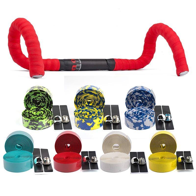 Mountain Bicycle Handlebar Tape Non-Slip Mtb Cycling Accessories Road Bike Parts Racing Handle Bar Strap 2 Plugs Bandage Belt