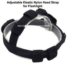 Sangle de tête en Nylon élastique réglable pour lampe de poche-noir (1 pc)