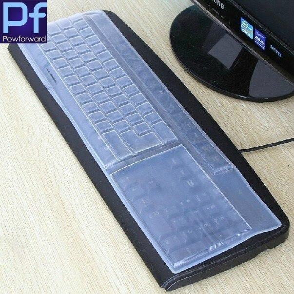 Funda protectora Universal de silicona para teclado de ordenador de escritorio para tamaño completo estándar 101 teclas Protector de piel para teclado de PC de escritorio