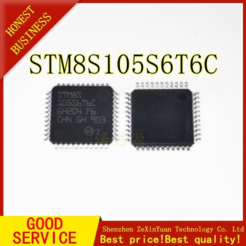 10 шт. STM8S105S6T6C STM8S105 S6T6C LQFP-44