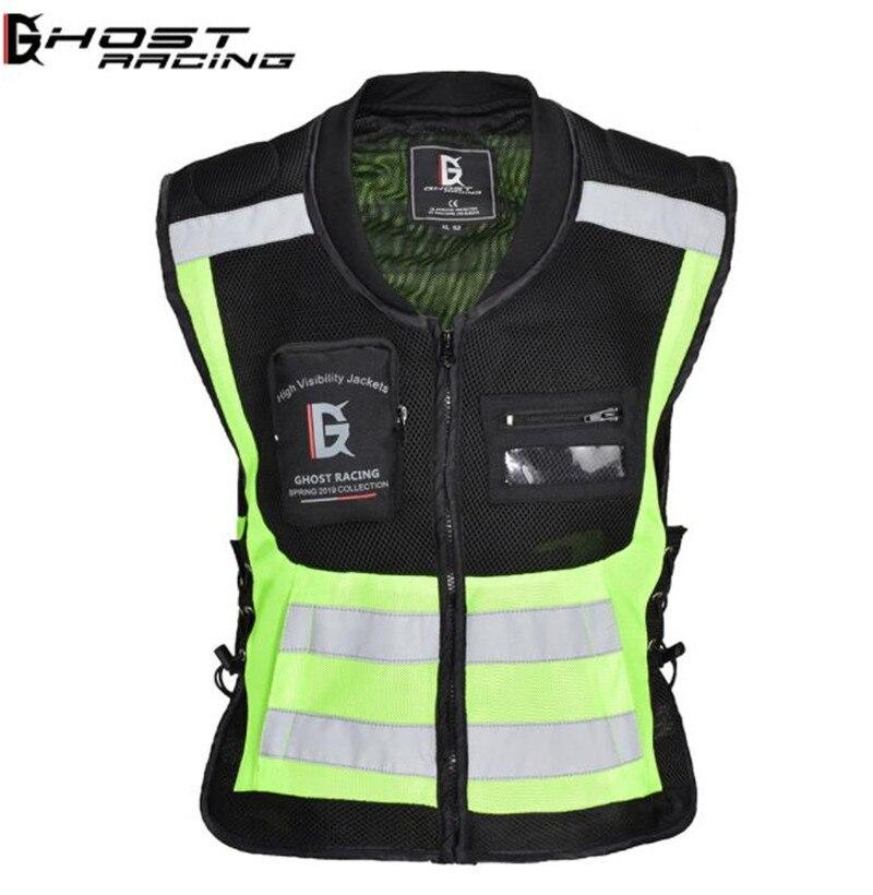 Chaleco de Moto de carreras fantasma, chaqueta de Motocross, chaqueta reflectante de seguridad, chaleco de Moto sin mangas deportivo de carreras
