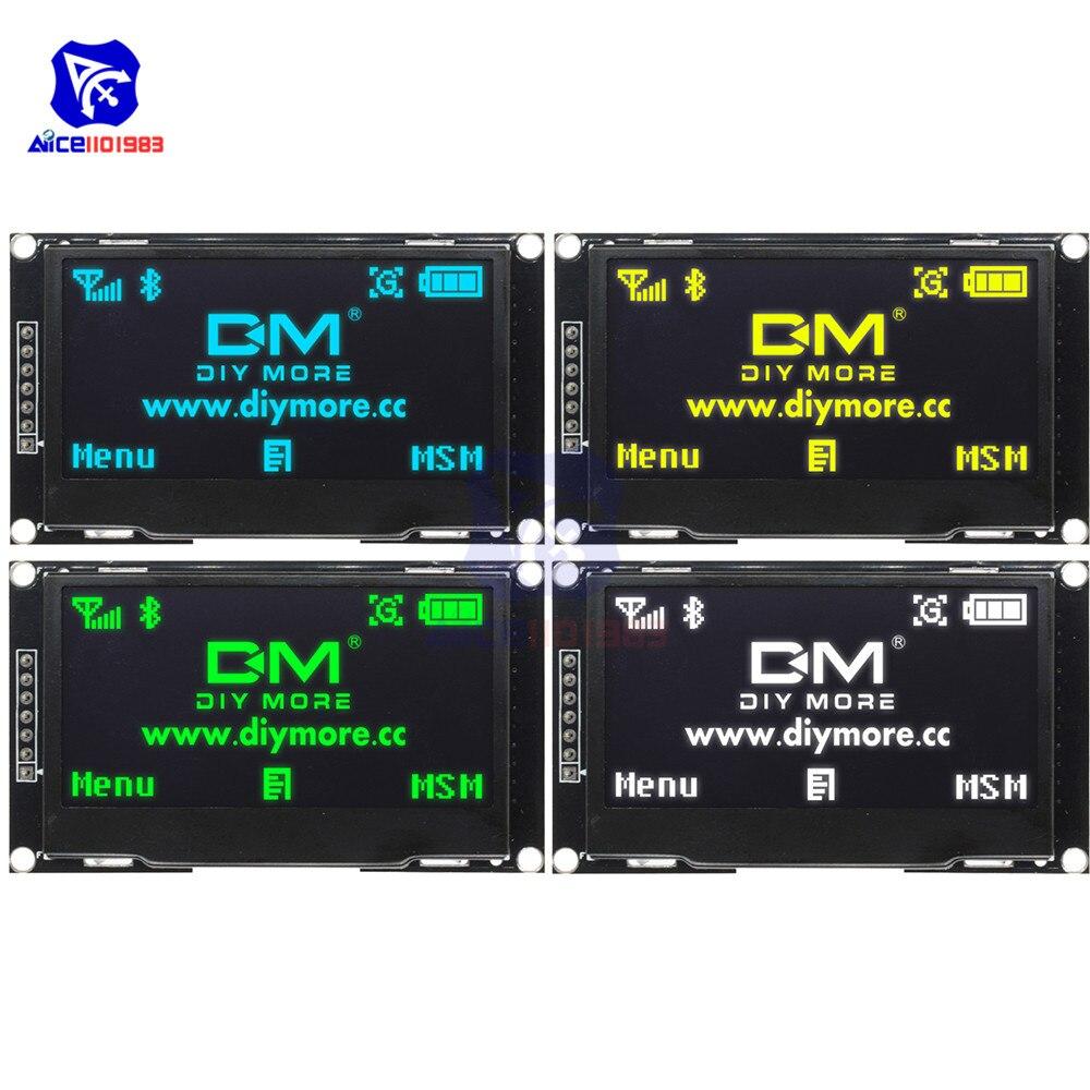 "Diymore 2,4 ""2,42 дюймов 128x64 OLED ЖК-дисплей модуль SSD1309 12864 7 Pin SPI/IIC I2C серийный интерфейс для Arduino UNO R3 C51"