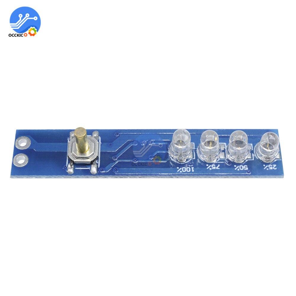 BMS 1S 2S 3S 4S Lithium Battery Capacity Indicator Board Power Level Indicator For 18650 Lithium Battery Charger DIY