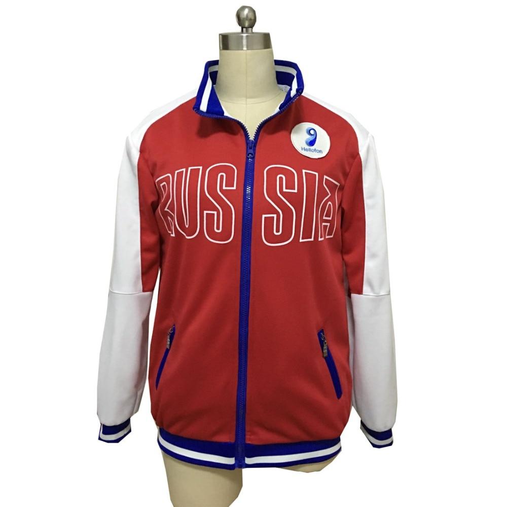 ¡2018 Yuri en hielo Mila Babicheva Cosplay abrigo Yuri! En hielo chaqueta roja Yuri disfraz de Plisetsky