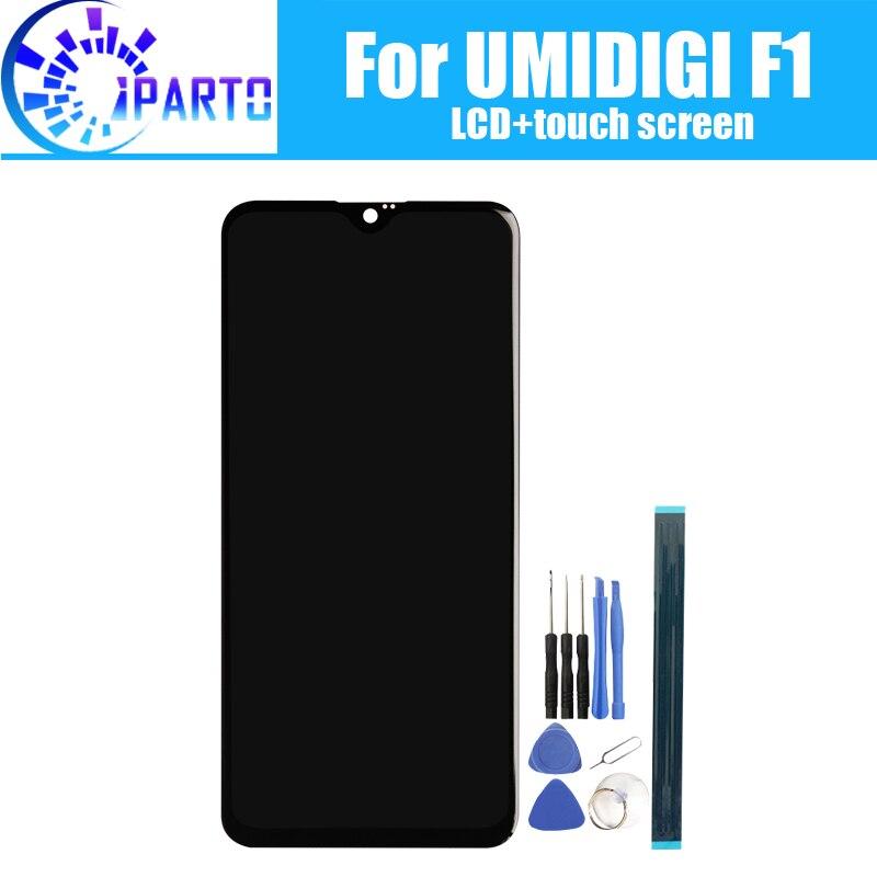 6,3 zoll UMIDIGI F1 LCD Display + Touch Screen 100% Original Getestet LCD Digitizer Glas Panel Ersatz Für UMIDIGI F1