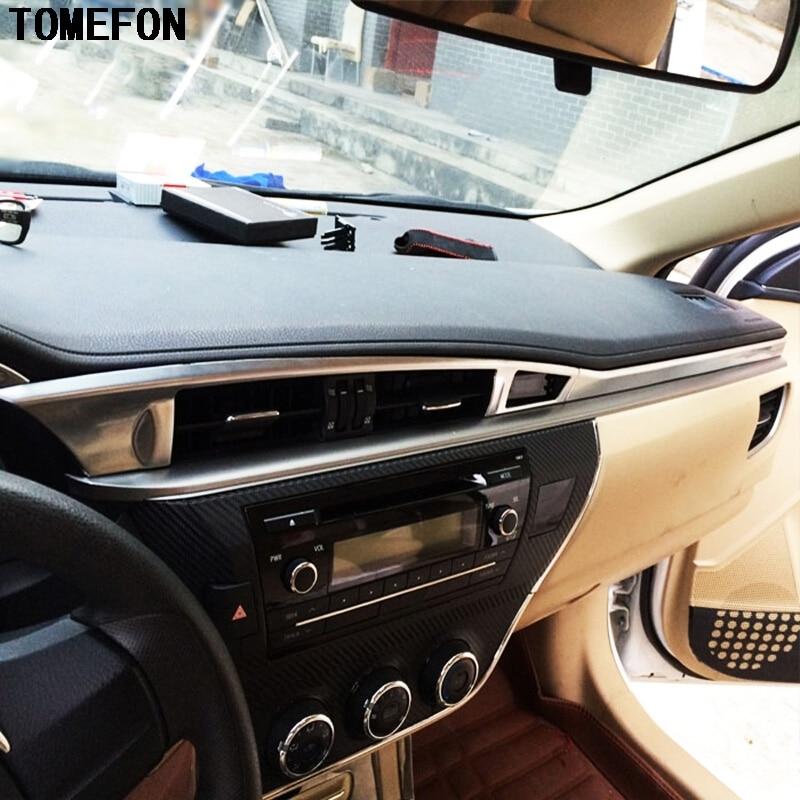 Para Toyota Corolla 2014 2015 ABS cromado panel de instrumentos de coche tablero consola central embellecedor LHD 4 Uds