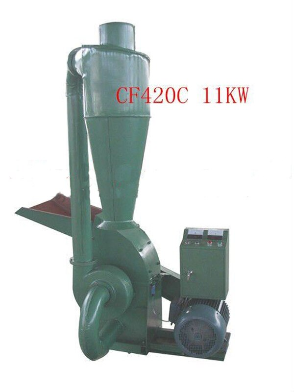 CF420C 11KW Molino de martillo de madera Molino de alimentación Animal con ciclón