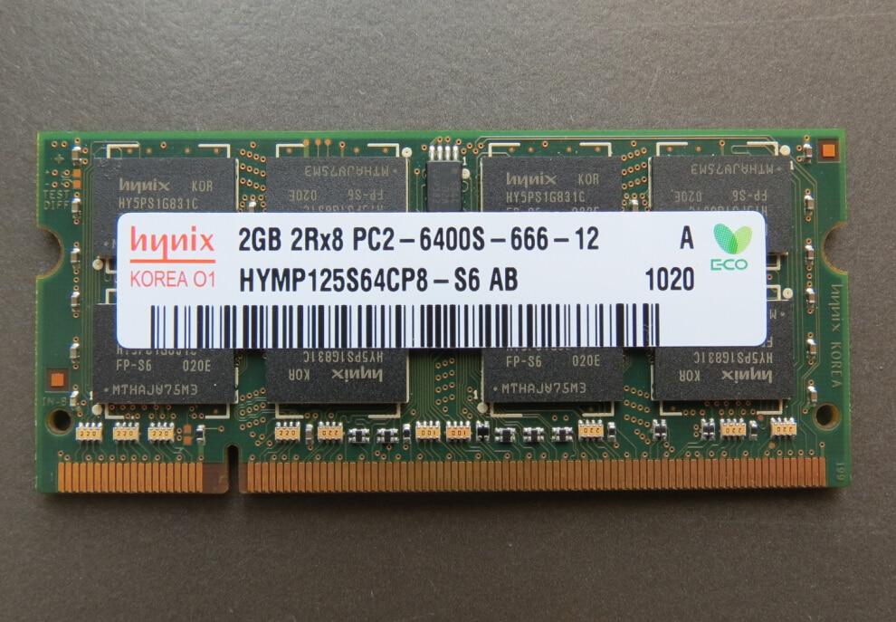 Lifetime warranty DDR2 2GB 800MHz PC2-6400S Original authentic DDR 2 2G notebook memory Laptop RAM 200PIN SODIMM