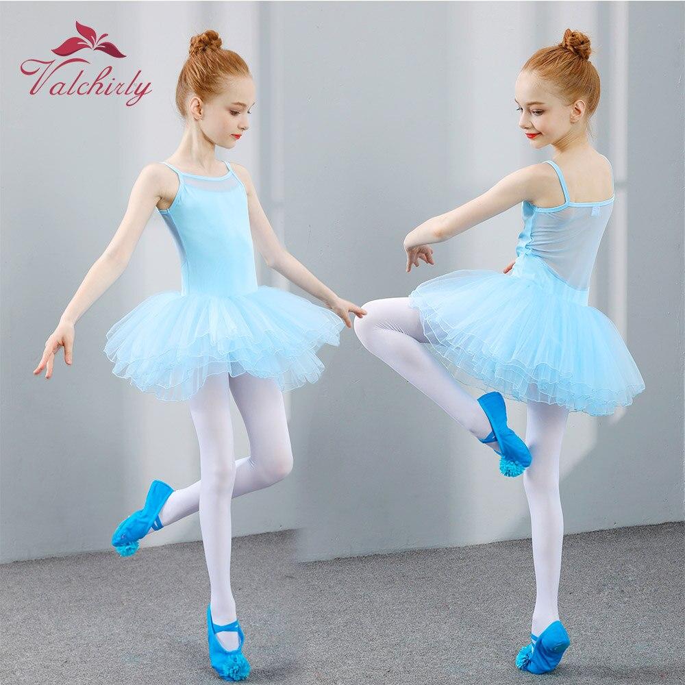 Nuevo vestido tutú de Ballet Ropa de baile para niñas falda suave de entrenamiento para niños ropa de gimnasia leotardos