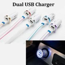 Dla telefonów komórkowych i kamery cyfrowe 12-24V podwójne porty USB cztery garnitur linie Adapter 1.0A 2.1A