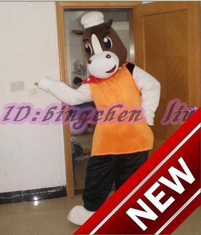 2018 New Bull Cow Cartoon Character Costume Cosplay Mascot Custom Products Custom Free Shipping