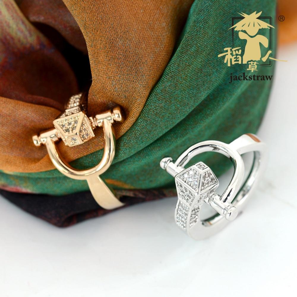 Inseto nova grande marca de alta qualidade de cobre puro micro-incrustada zircão chapeamento de ouro lenço de seda fivela broche fábrica direto