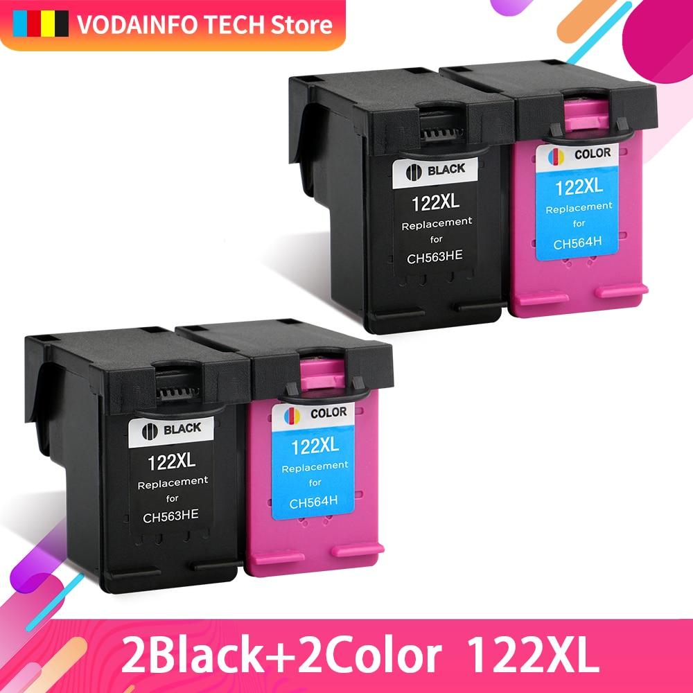 QSYRAINBOW reemplazo para HP122 recargable cartucho de tinta compatible para HP Deskjet serie 1000, 1050, 2000, 2050, 2050s 3000 de 3050 J410a