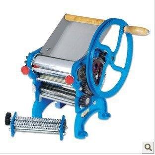 Máquina de rodillos para masa manual con doble cuchillo, máquina de prensado de pasta casera, máquina de dumpling de piel