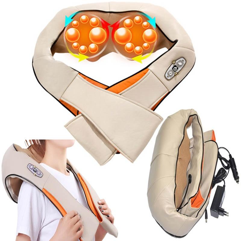 Shiatsu Body cellulite back Neck shoulder massager of neck kneading Belt Electric Home Car Acupuncture Cellulite Heating Massage