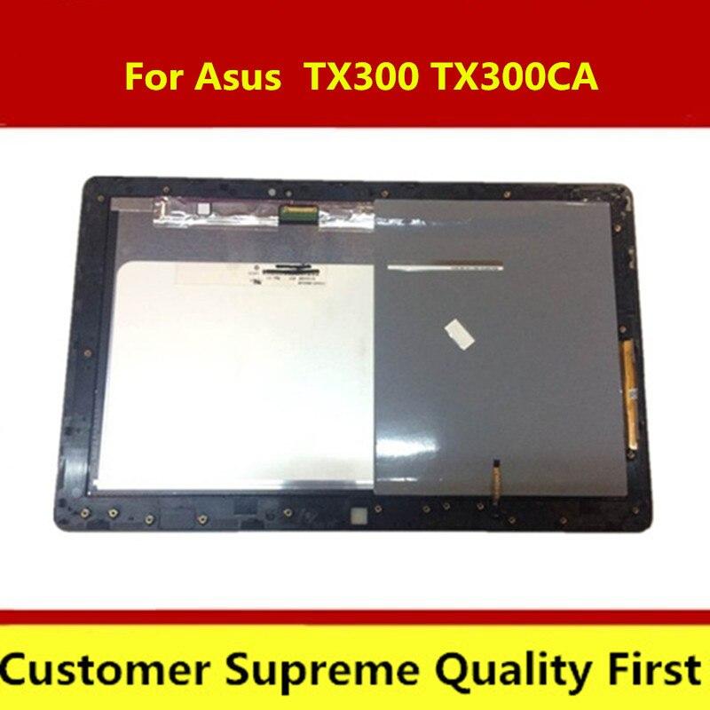 Con marco de pantalla LCD para ordenador portátil Asus TX300 TX300CA Ultrabook ordenador portátil LCD pantalla táctil digitalizador N133HSE-E21 reemplazo