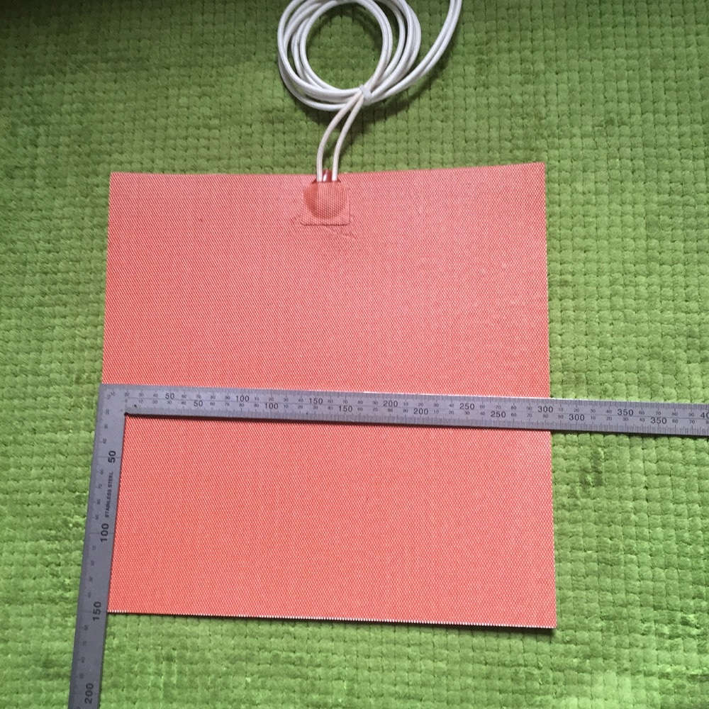 300X300mm 1000W 240V, Custom Designed Flexible Silicone Heater/Heating/Thermal Mat/Pad/Blanket 3M adhesive backing