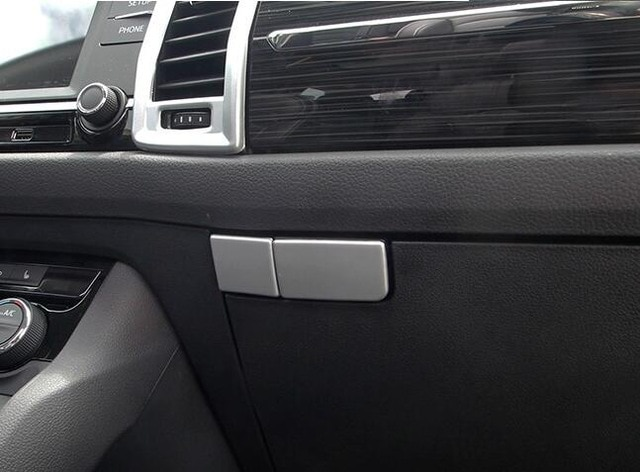 Ajuste para Skoda Kodiaq 2017 2018 ABS mate coche guante copiloto caja manija tazón cubierta ajuste coche accesorios de diseño 2 uds