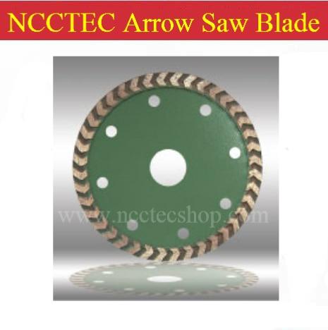 "4-3/8"" NCCTEC Arrow-teeth Diamond saw blades NSB043AT   110mm granite concrete cutting disc   FREE shipping"