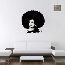 New arrival African Woman Wall Decal Tribal African Girl Vinyl Stickers Beauty Hair Salon Decor Home Decor