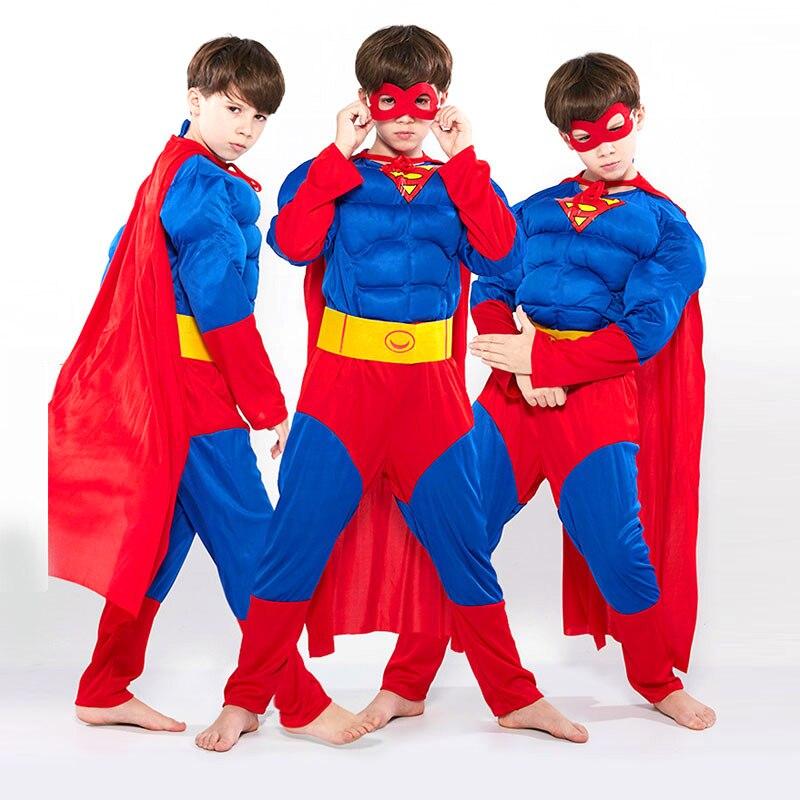 Capitán América Navidad Halloween Niños Avengers Spider-Man Performance Iron Man Superman Optimus Prime Cosplay Muscle Suit