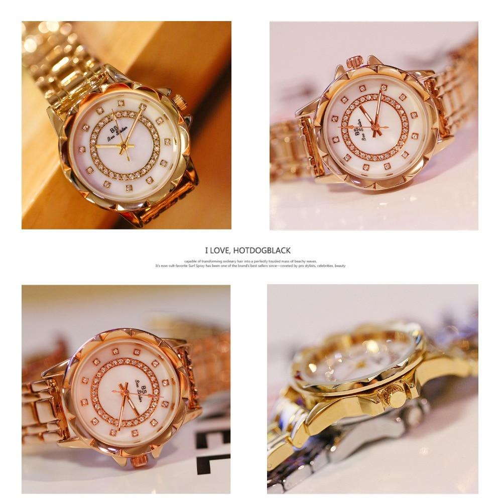 Diamond Women Quartz Watch Rhinestone Elegant Ladies Engagement Gold Clock Wrist Watches Female Relogio Feminino Brand 2020 enlarge