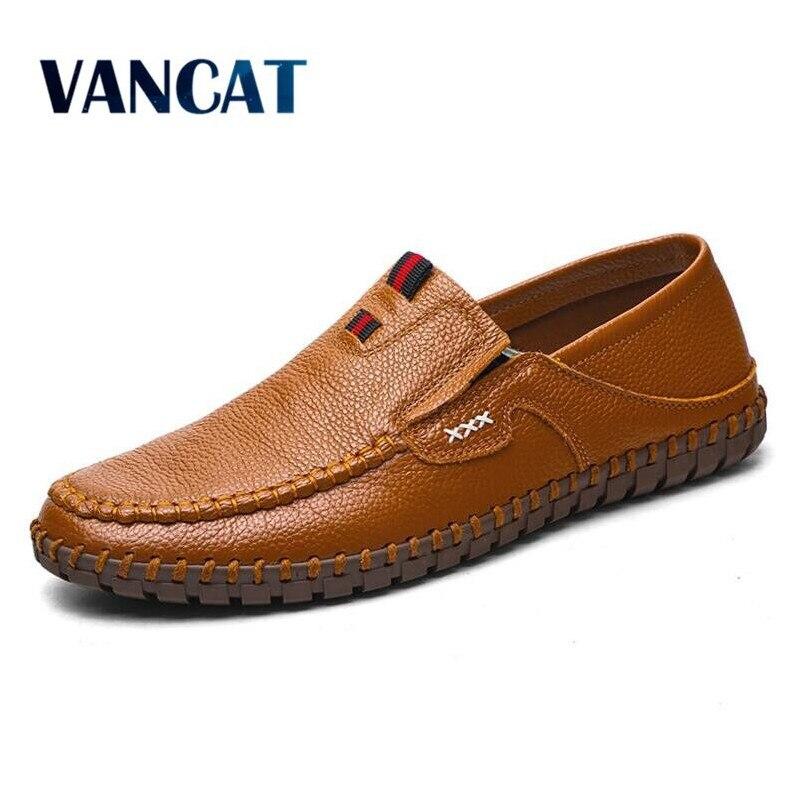 VANCAT Marke Größe 38-47 Mode Marke Echtes leder männer Wohnungen, Weiche leder männer Männlichen Mokassins, hohe Qualität Männer Schuhe
